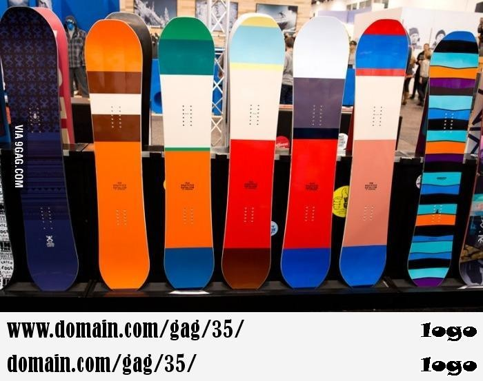 South Park themed snowboards